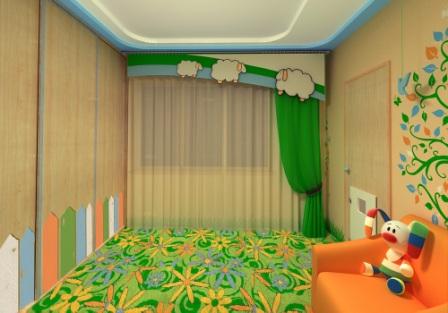 Дизайн детской комнаты детская